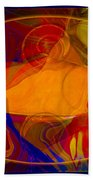 Feeling At Home With Uncertainty Abstract Healing Art Beach Towel