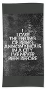 Feeling Quotes Poster Beach Towel