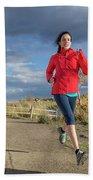 Female Runner In Colorado Beach Sheet