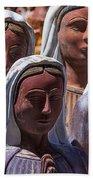 Female Statues Beach Towel