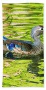 Female Wood Duck Beach Towel