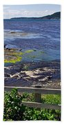 Fence Along Rocky Harbour-nl Beach Towel