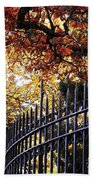 Fence At Woodlawn Cemetery Beach Towel