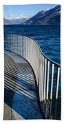 Fence With Shadow Beach Towel