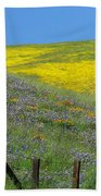 Fenced In Flowers Beach Towel