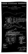 Fender Guitar Tremolo Patent Art 1956 Beach Towel