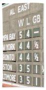 Fenway Park Al East Scoreboard Standings Beach Towel