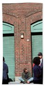 Fenway Park - Fans And Locked Gate Beach Towel by Frank Romeo