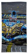 Fernando Alonso In Blue Beach Towel