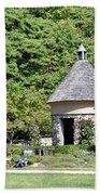 Fernwood Botanical Garden Stone Herb House Usa Beach Towel