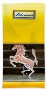 Ferrari Dino Grille Emblem -0750c Beach Towel