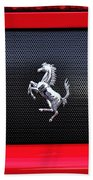 Ferrari - Rear Grill And Stallion Badge Beach Towel