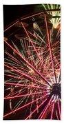 Ferris Wheel And Fireworks Beach Towel