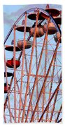 Ferris Wheel At Sunset Beach Towel