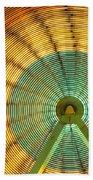 Ferris Wheel Evergreen State Fair Beach Towel