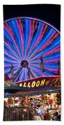 Ferris Wheel Rides And Games Beach Towel