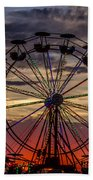 Ferris Wheel Sunset Beach Towel
