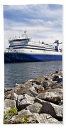 Ferry From North Sydney-ns To Argentia-nl Beach Towel