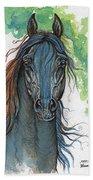 Ferryt Polish Black Arabian Horse Beach Towel