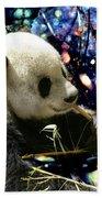Festive Panda Beach Towel