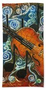 Fiddle 1 Beach Towel by Sue Duda