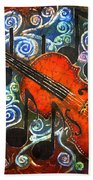 Fiddle - Violin Beach Towel