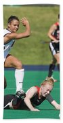 Field Hockey Hurdle Beach Towel