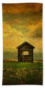 Field Of Dandelions Beach Towel by Lois Bryan