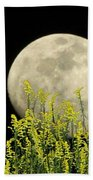 Field Of Gold By Moonlight Beach Towel