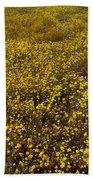 Field Of Goldfields In Park Sierra-ca Beach Sheet