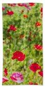 Field Of Poppies Digital Art Prints Beach Towel
