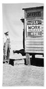 Field Office Of The Wpa Government Agency Beach Towel