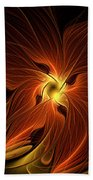 Fiery Beach Towel by Amanda Moore