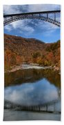 Fiery Colors At New River Gorge Bridge Beach Towel