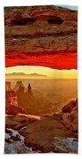 Fiery Morning Beach Towel