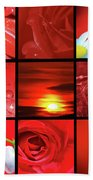 Fiery Red Beach Towel