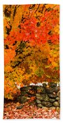 Fiery Rock Wall Beach Towel