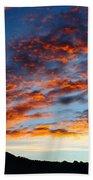 Fiery Skies Beach Towel