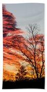 Fiery Sundown Beach Towel