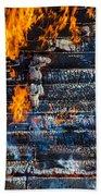 Fiery Transformation Beach Towel