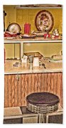 Fifty's Lunch Counter  Nostalgic Beach Towel