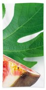 Fig And Leaf Beach Towel