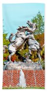 Fighting Stallions Beach Towel