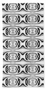 Figure 8 Black And White Pattern Beach Towel