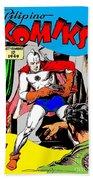 Filipino Action Comics Beach Towel
