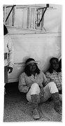Film Homage Apache Extras The High Chaparral 1969 Old Tucson Arizona 1969-2008  Beach Towel