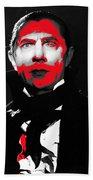 Film Homage Bela Lugosi Mark Of The Vampire 1935-2013 Beach Towel