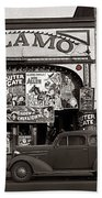 Film Homage Bela Lugosi Shadow Of Chinatown 1936 John Vachon Fsa Alamo Theater Washington D.c. 2010 Beach Towel