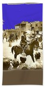 Film Homage Cameron Mitchell The High Chaparral Main Street Old Tucson Az Publicity Photo Beach Towel