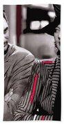 Film Homage Cary Grant Rosalind Russell Howard Hawks His Girl Friday 1940-2008 Beach Towel